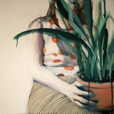 Hanna Ilczyszyn - Girl with a plant
