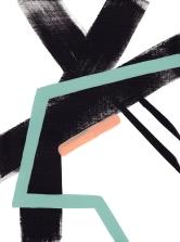 Jaime Derringer - Untitled Black, White Graphic Acrylic Painting