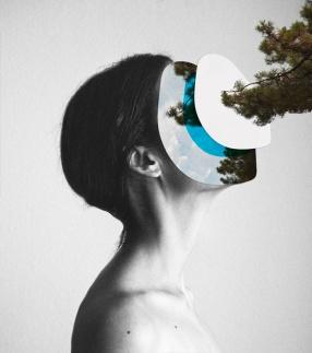 Rocio Montoya - Blue Collage