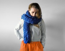 Ohhio - Mezzo punto. Super chunky long scarf. Chunky scarf. Big yarn scarf. Merino wool