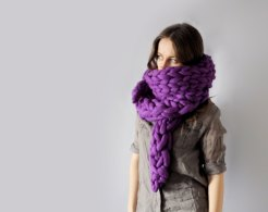 Ohhio - Mezzo punto. Super chunky shawl