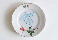 Ninainvorm - Geometry meets roses vintage small plate