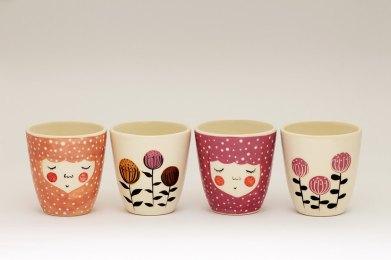 Marina Marinski - Handmade Ceramica Cups Set Of 4