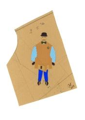Hormazd Narielwalla - Oscar Hodegepodge in blue stripes