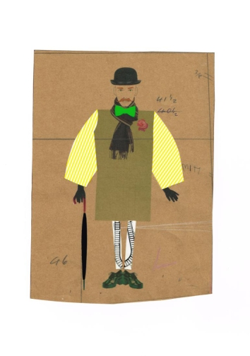 Hormazd Narielwalla - Oscar Hodgepodge in yellow stripes