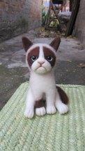 Jellyfish Handmade - Felted Grumpy Cat