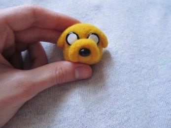 Jellyfish Handmade - Jake Adventure Time Felted Pin