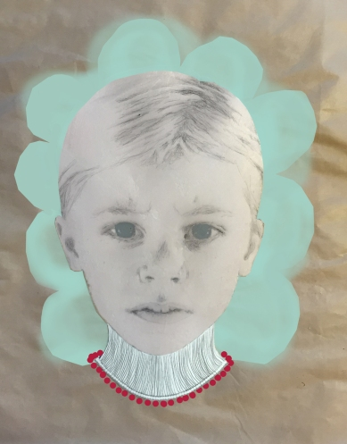 Artwork of a child portrait manipulated.