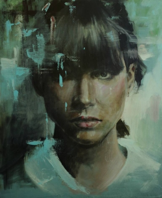 Woman portrait frontal view.