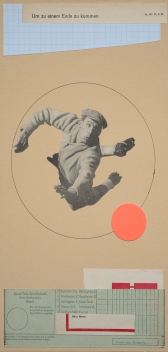 Collage of a player jumping and seen from above.