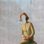 Collage of a faceless woman.