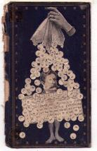 Black and white collage over an old cover book.