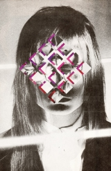 Collage over a vintage defaced woman portrait.