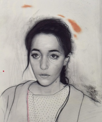 Drawing of a female portrait.