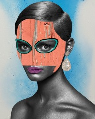 Female portrait with mask.