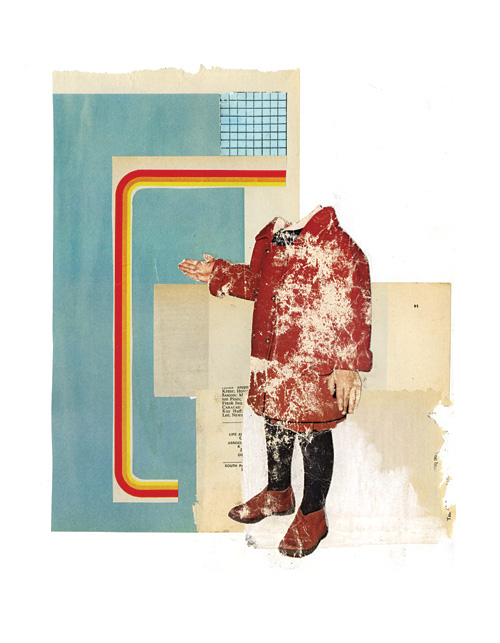 Collage of a headless body of a young kid.