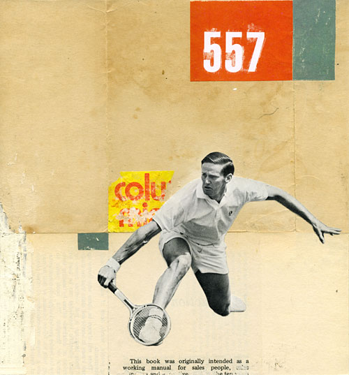 Collage of a tennis player.