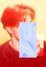 Defaced Bowie portrait.