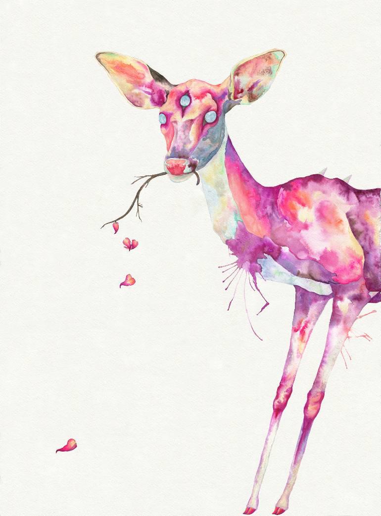 Portrait of a deer.