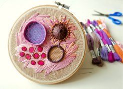 Still life frontal photo of an Emboidery Hoop.