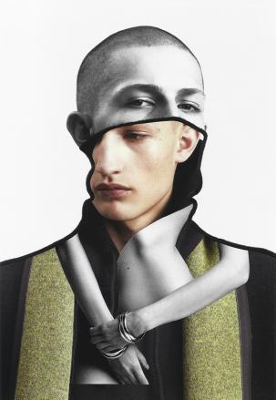 Fashion shots cutouts of a man.