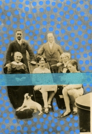 Vintage family photo altered with washi tape and pens.