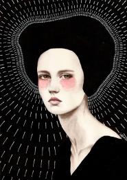 Female illustrated portrait.