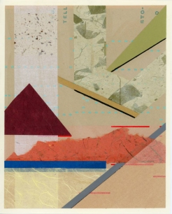 Abstract composition made of found papers.