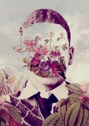 Portrait of a faceless man.