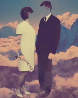 Portrait of a faceless couple.
