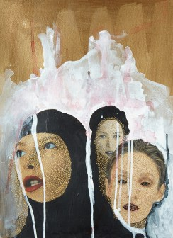 Portrait of three women.