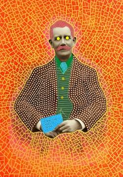 Altered vintage man portrait.