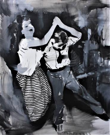 Couple dancing.