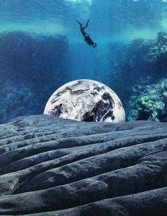 Underwater surreal seascape.