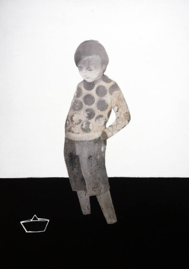 Full body kid portrait.