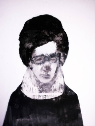 Woman with glasses portrait.