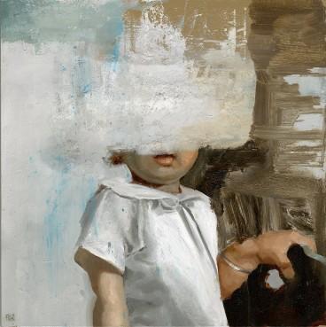 Faceless baby portrait.