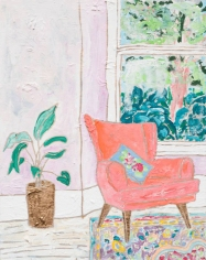 Pink Armchair and Garden.