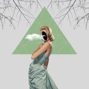 Faceless woman portrait.