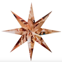 Star shaped abstract collage.