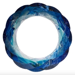 Circular shaped abstract collage.