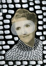 Altered vintage woman portrait.