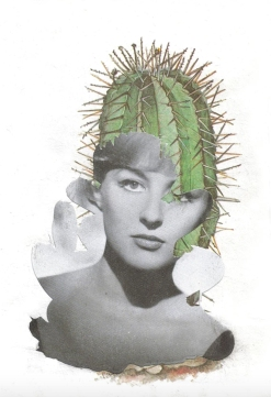 Woman portrait combined with plants.
