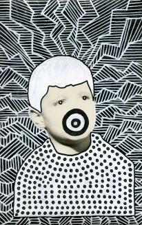 Altered vintage boy portrait.
