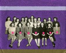 Altered vintage group portrait.