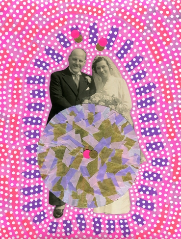 Altered vintage wedding photo.