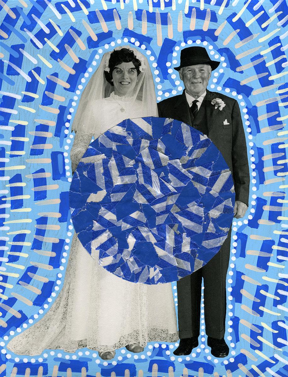 Altered vintage wedding photo.