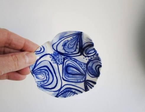 Still life of a porcelain dish.