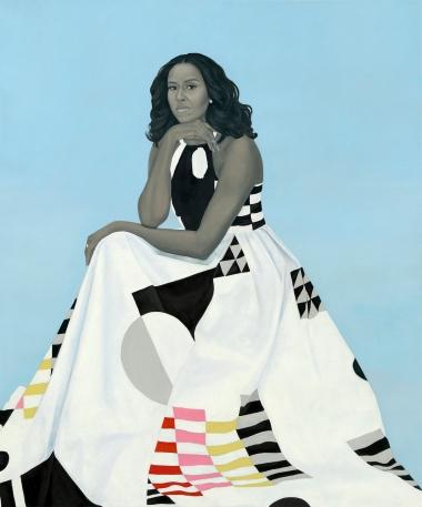 Portrait of Michelle Obama.