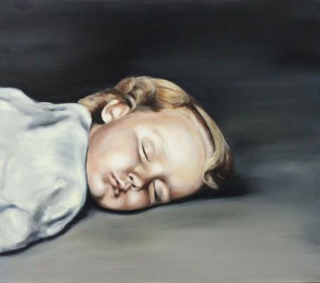 Portrait of a baby sleeping.